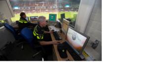 politie-inzet bij voetbalstadions omlaag door verbeterde camera's