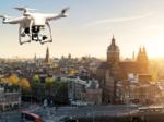 Drone boven Amsterdam