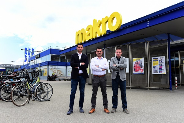 Partners in de security-upgrade bij Makro: Simon van der Mars, Louis Assmann en Tim Adema (v.l.n.r.)