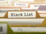 zwarte lijst stelend winkelpersoneel