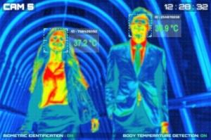 Een onaanvaardbare inbreuk op onze privacy of een handige tool tegen corona? Sommige hotels en zalenverhuurders maken tegenwoordig gebruik van een nieuwe techniek: een camera die op afstand de lichaamstemperatuur meet van de bezoekers. thermische camera's, cameratoezicht, toegangscontrole