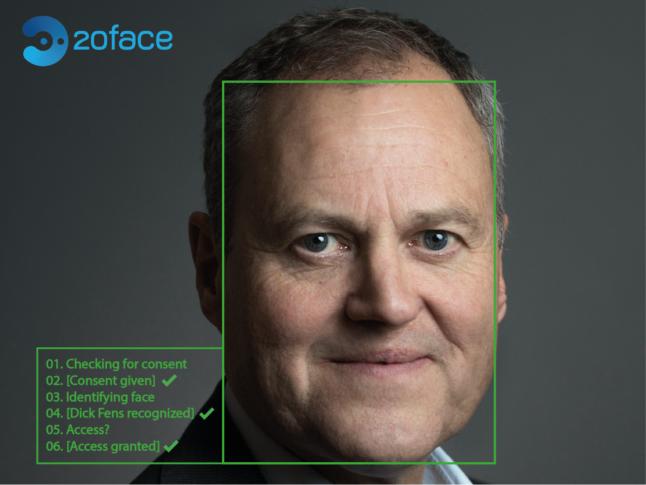 """Dick Fens, CEO bij 20face: """"Doe eerst zelf ervaring op met biometrie."""""""